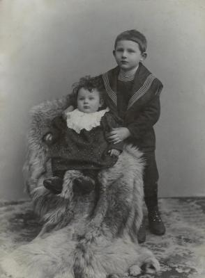 Mother and brother, Charles