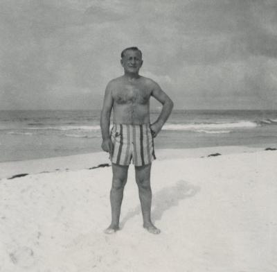 [Photograph of Ben Mines at beach]