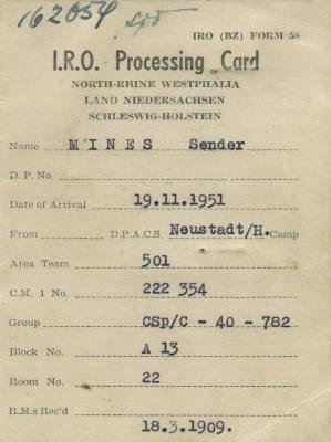 IRO processing card