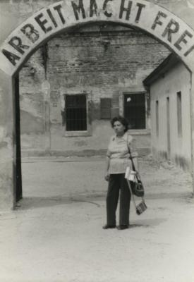 [Photograph of Theresienstadt concentration camp entrance]