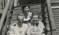[Photograph of Jennie with Scruton family at 1716 Nelson Street, Vancouver]