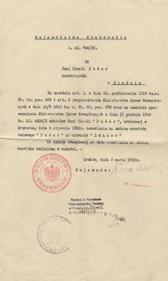 [Kraków voivodeship official name change document]
