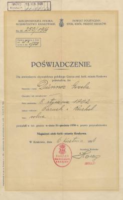 [Proof of Polish citizenship document]