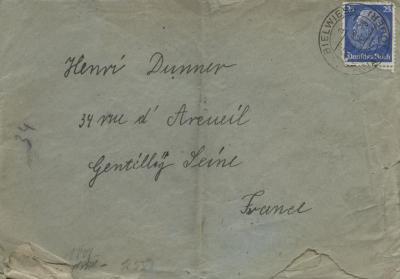 [Envelope addressed to Henri Dunner]