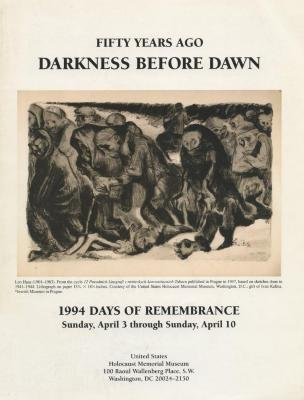 Days of remembrance April 3–10, 1994 : fifty years ago : darkness before dawn : planning guide for commemoration programs