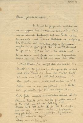 Letter to Gerda from Sigrid and Mutti
