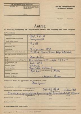 [Application to renew Austrian passport]