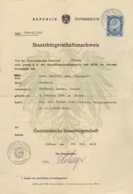 Staatsbürgerschaftsnachweis