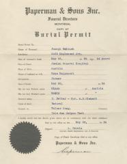 Burial permit