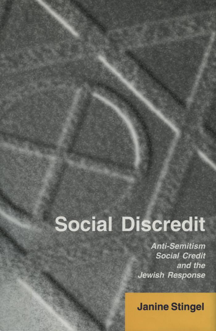 Social discredit : anti-Semitism, Social Credit, and the Jewish response