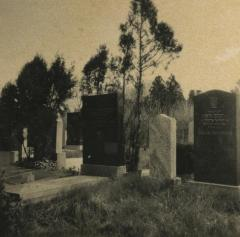 [Photograph of grave markers]
