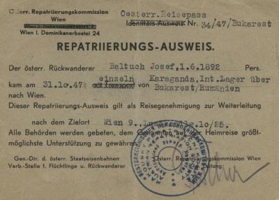 Repatriierungs-ausweis