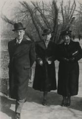 [Photograph of Leo and Julia Schmucker with unidentified woman]