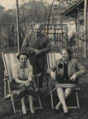 [Photograph of Rosa Baltuch with unidentified man and woman]