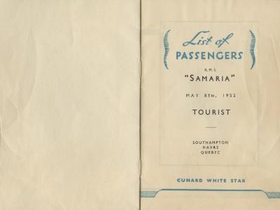 List of passengers