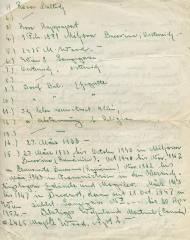 [Document containing list by Rosa Baltuch]