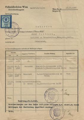[Polizeidirektion Wien document]