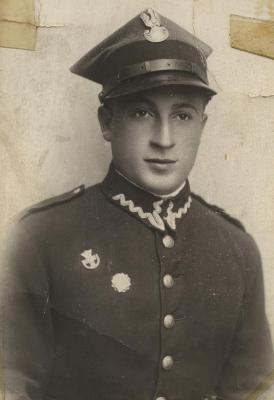 [Photograph of Boris Shak in Polish Army uniform]