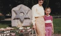 [Photograph of Great Choral Synagogue monument, Riga, Latvia]