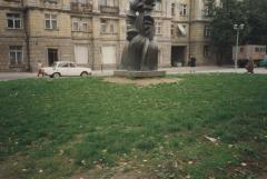 [Photograph of sculpture in Vilnius]