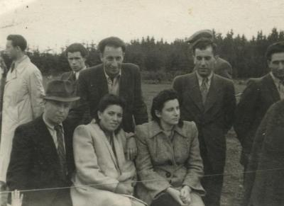 B. Shack with a group of partisans, Germany