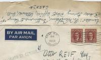 [Letter to Otto Reif, Esq. from Herbert Wertheim, Internment Camp]