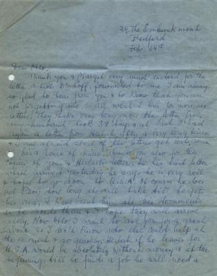 [Letter to Otto Reif from Hebert Wertheim's mother]