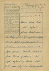 [Dictated letter from Kasimierz [?] Gulembinowski at the Mauthausen main camp to an unknown recipient]