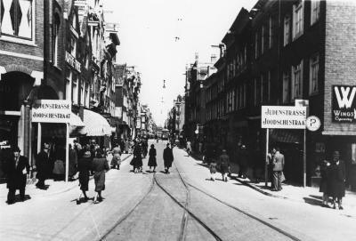 [Weesperstraat in Amsterdam's Jewish quarter]