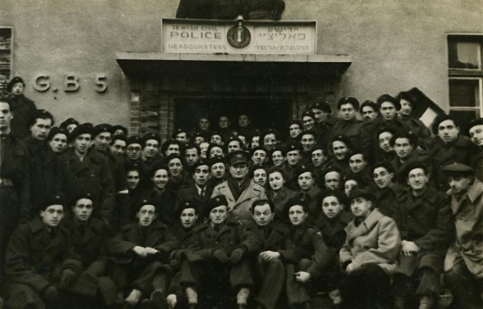 [Jewish police at Bergen-Belsen]