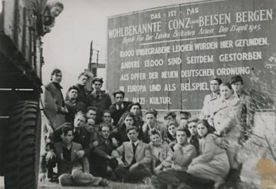 [Gate to Bergen-Belsen]