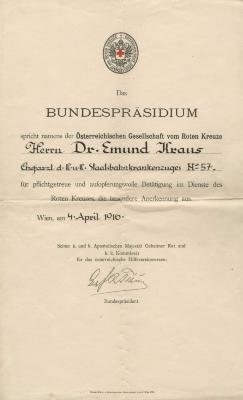 [Red Cross Recognition of Service - Edmund Kraus]