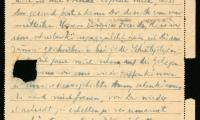Herman Teitelbaum to Rebecca Teitelbaum letter