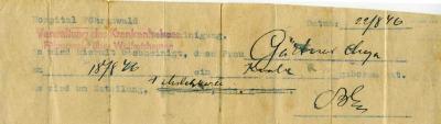 [Birth certificate]