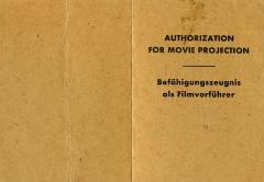 Authorization for movie projection