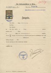 Der Polizeipräsident in Wien; Zeugnis