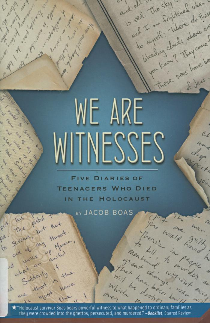 We are witnesses : five diaries of teenagers who died in the Holocaust