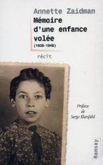 Mémoire d'une enfance volée (1938–1948) : récit