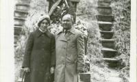 [Photograph of Avramke Wilkomirski with unidentified woman]