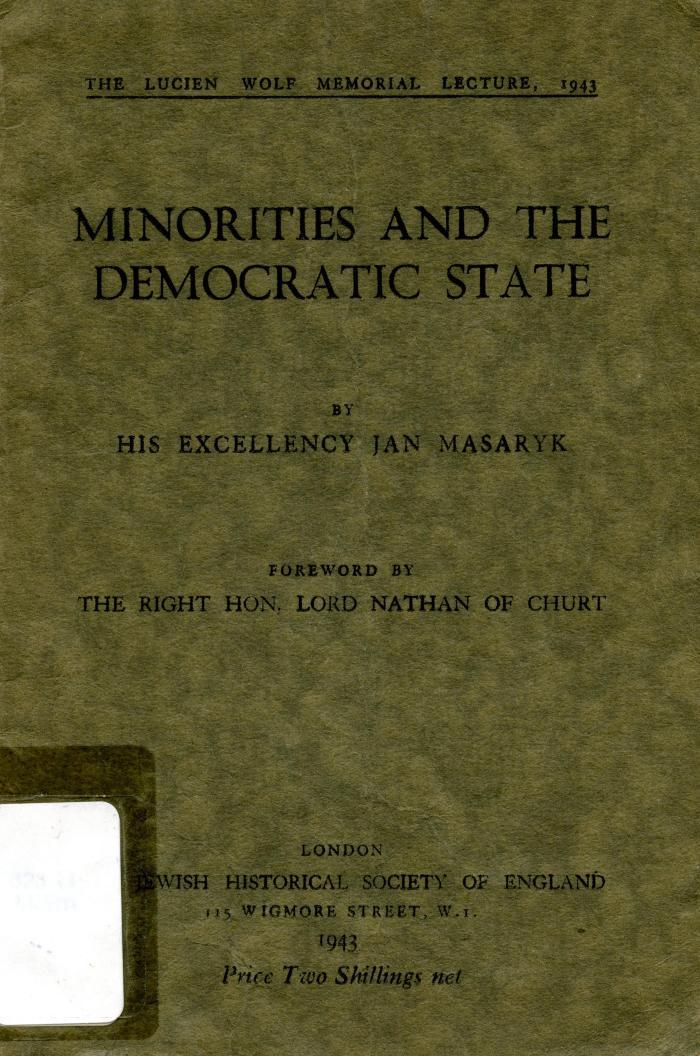Minorities and the democratic state