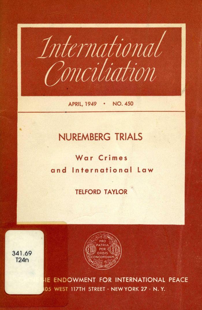 Nuremberg trials : war crimes and international law