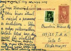 [Postcard from Dr. Lipot Ornstein and Olga Ornstein to Frank Orban]
