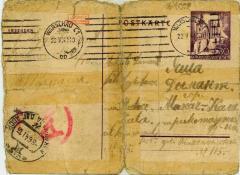 [Postcard from Fajga Szrajbaum to Alexander Dimant]