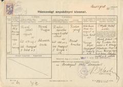 Házassági anyakönyvi kivonat