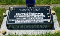 [Photograph of the gravesite of Lina Wejgsman]