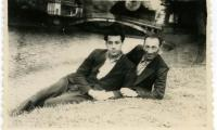 [Photograph of Alexander Dimant and partner]