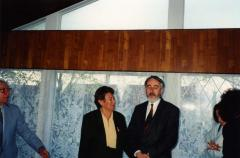 [Photograph of Krzysztof Kasprzyk and Susan Bluman]