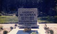 [Photograph of the gravesite of Andrzej Wejgsman]