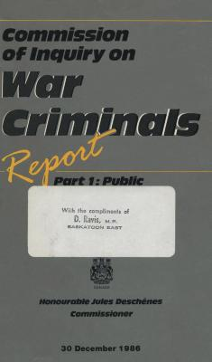 Commission of Inquiry on War Criminals : report, part 1 : public