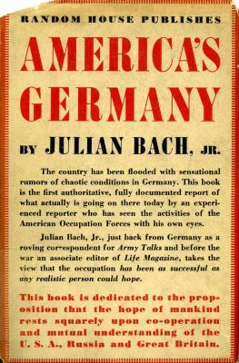 America's Germany : an account of the occupation
